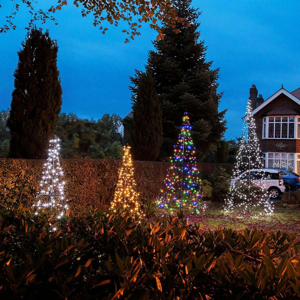 4.2m FairyBell Outdoor Pre-lit Tree, 640 White Twinkle LEDs