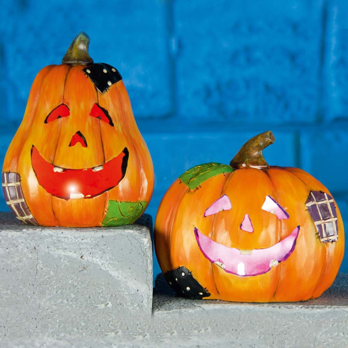 2 Battery Pumpkin Halloween Party Lights 3 Colour Changing LEDs