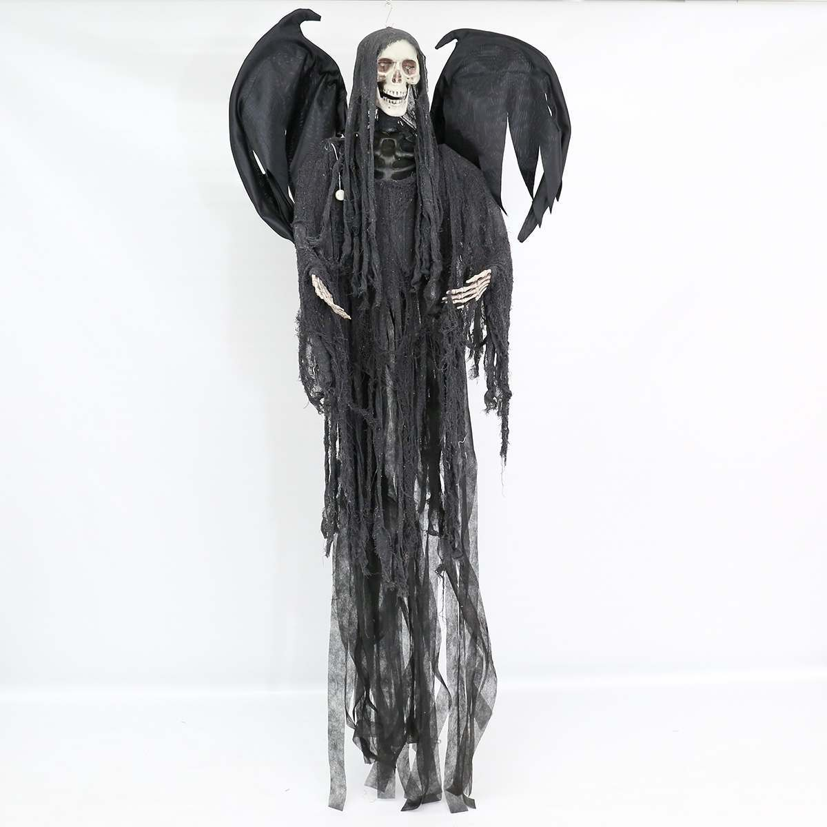 Click to view product details and reviews for Halloween Battery Animated Standing Reaper With Light And Sound 2m.