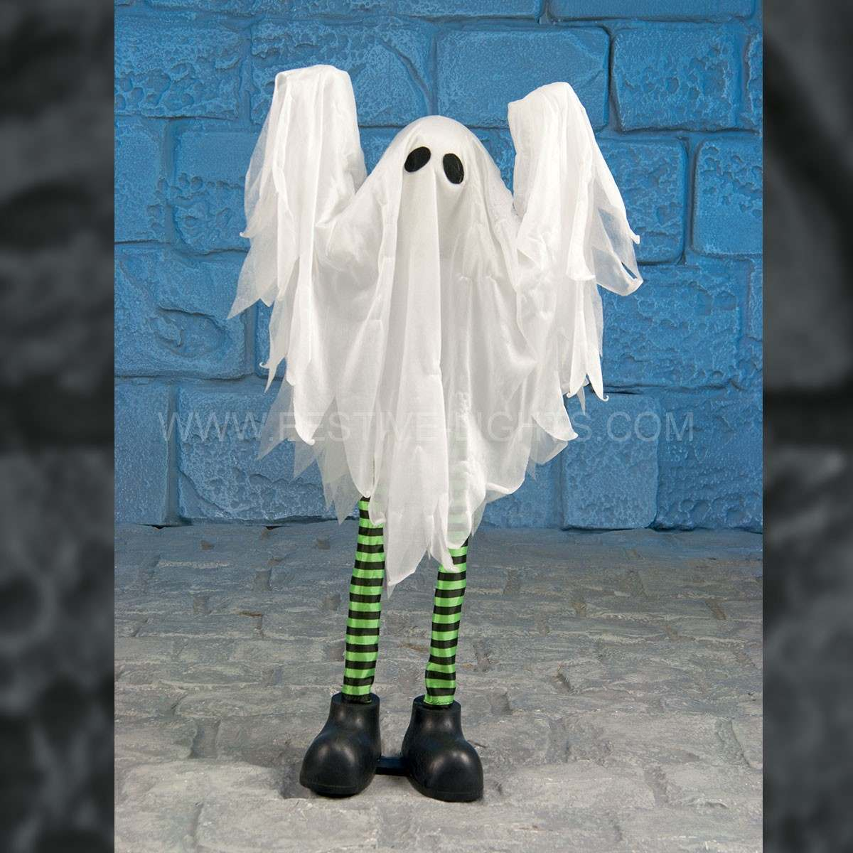 75cm Halloween Battery Operated Animated Standing Ghost with Sound and Movement