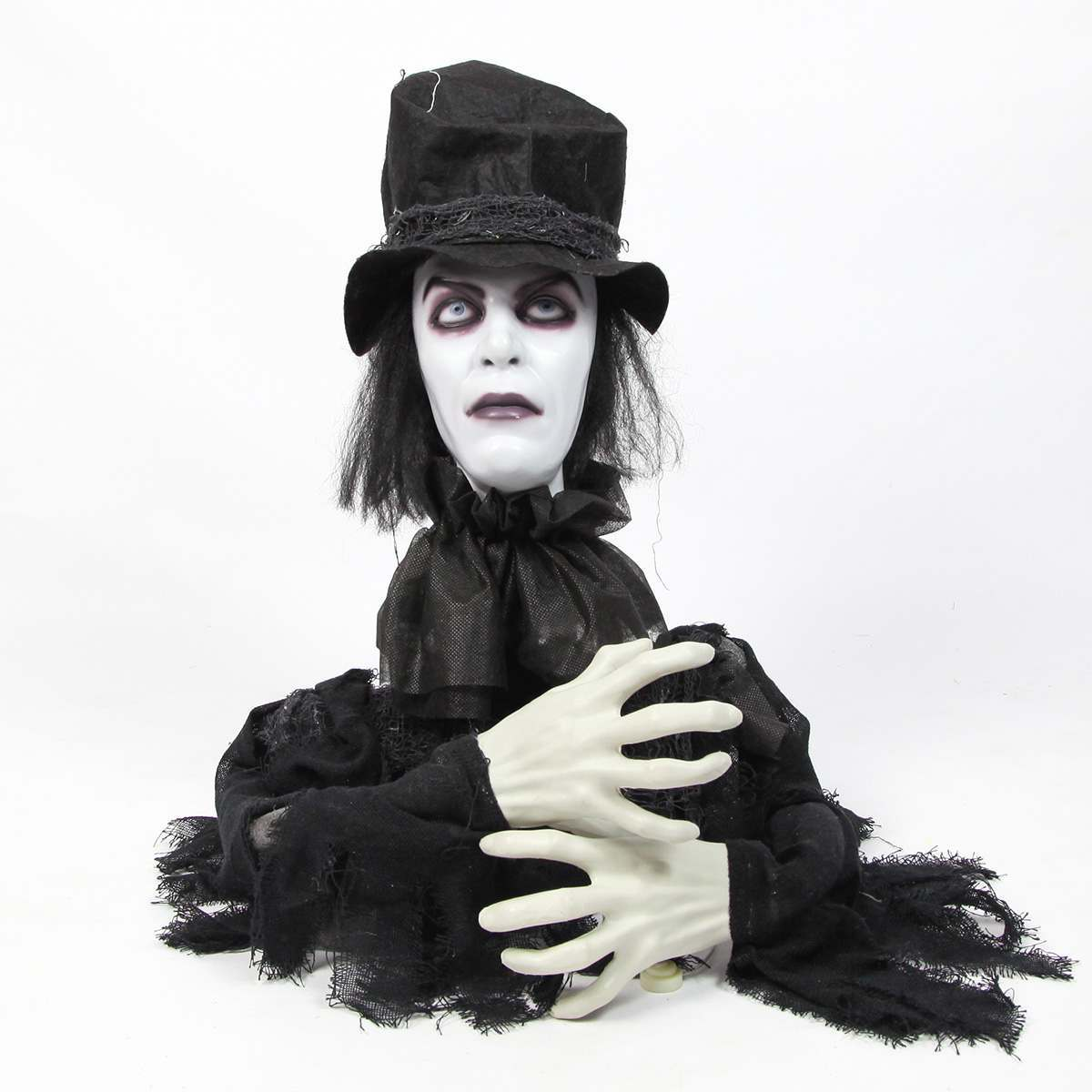Click to view product details and reviews for Halloween Battery Animated Turning Groom With Sound.