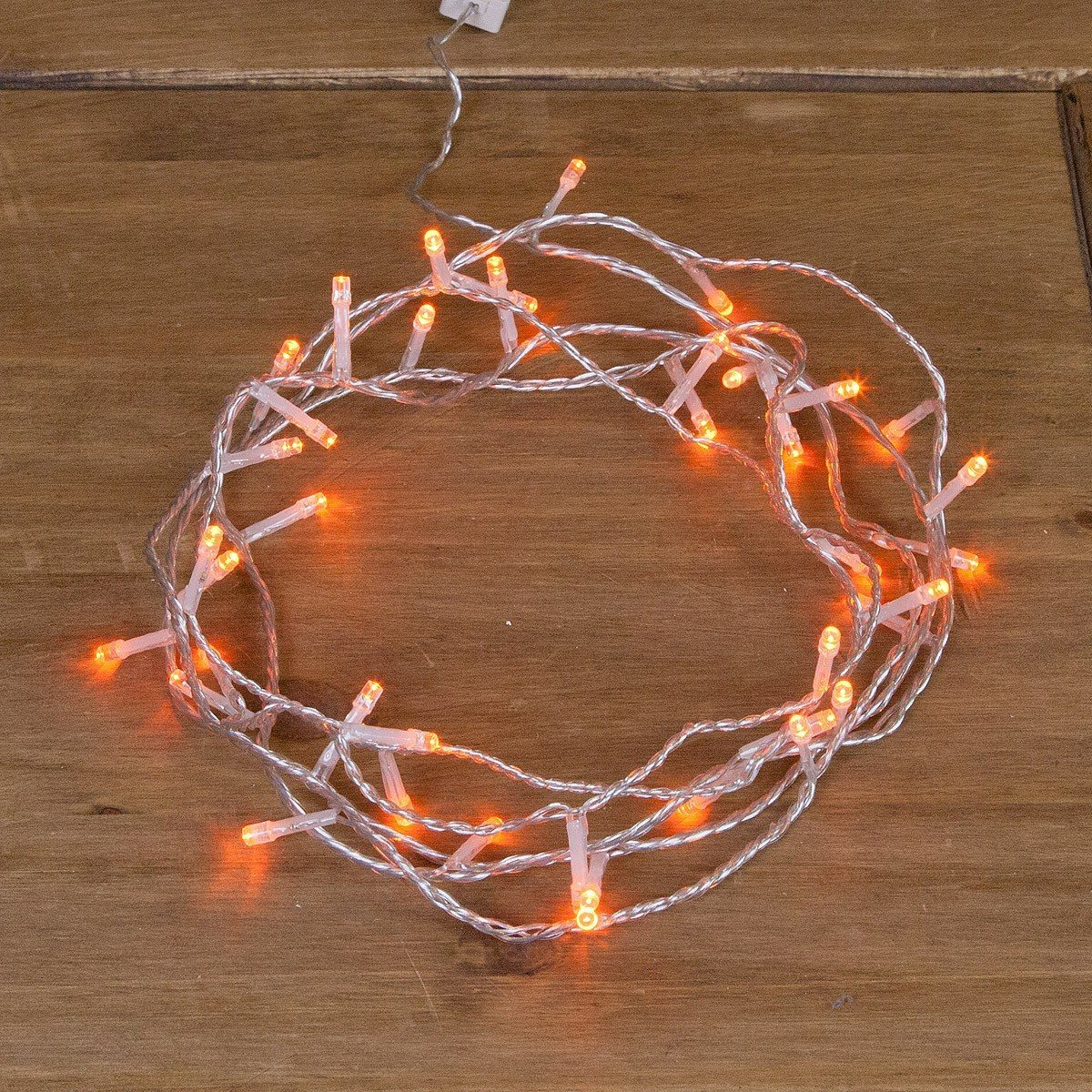 Click to view product details and reviews for Indoor Plug In Christmas Fairy Lights On Clear Cable 40 Amber Leds.