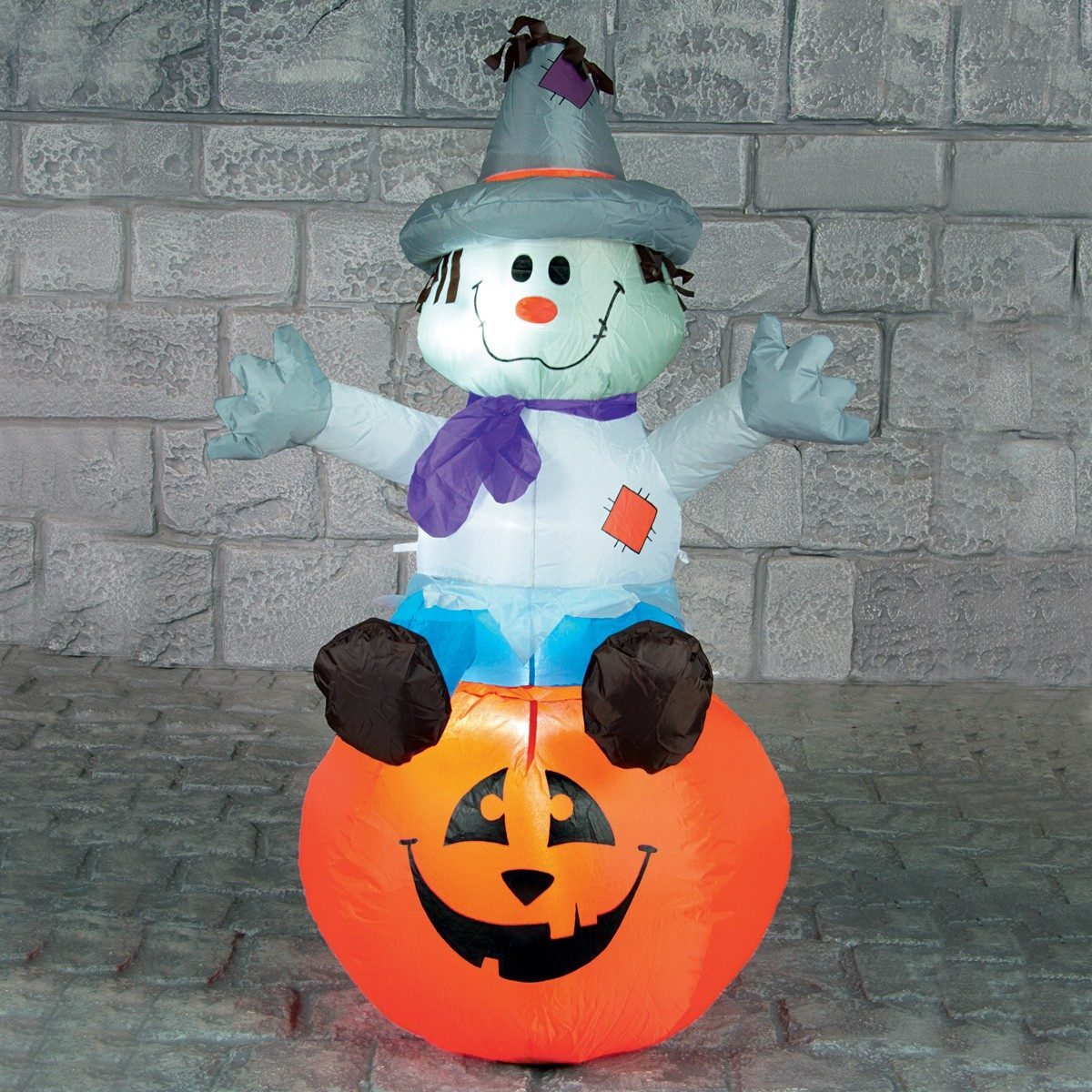 Click to view product details and reviews for 12m Outdoor Halloween Inflatable Scarecrow On Pumkpin Figure.