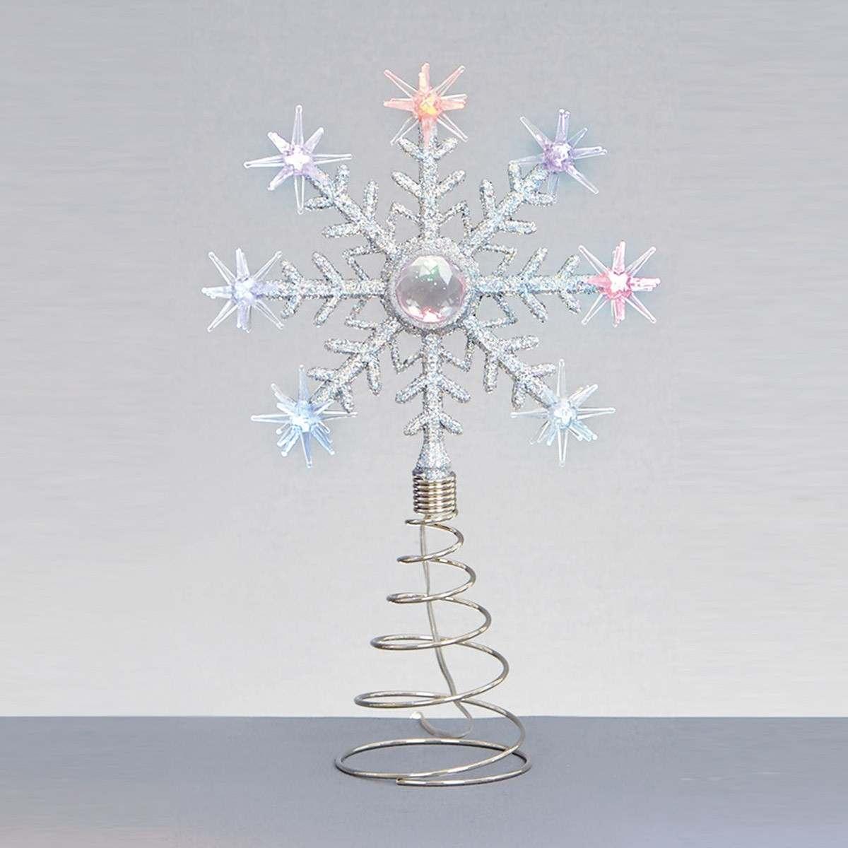 Cm snowflake christmas tree topper decoration colour