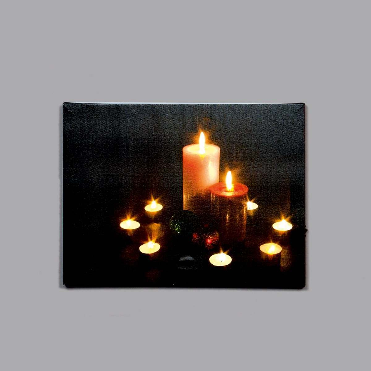 Click to view product details and reviews for Premier Battery Led Light Up Candle Canvas Scene 40 X 30cm.