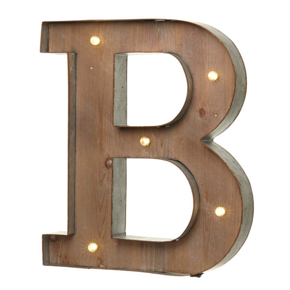 Click to view product details and reviews for Wood Metal B Battery Light Up Circus Letter 41cm.