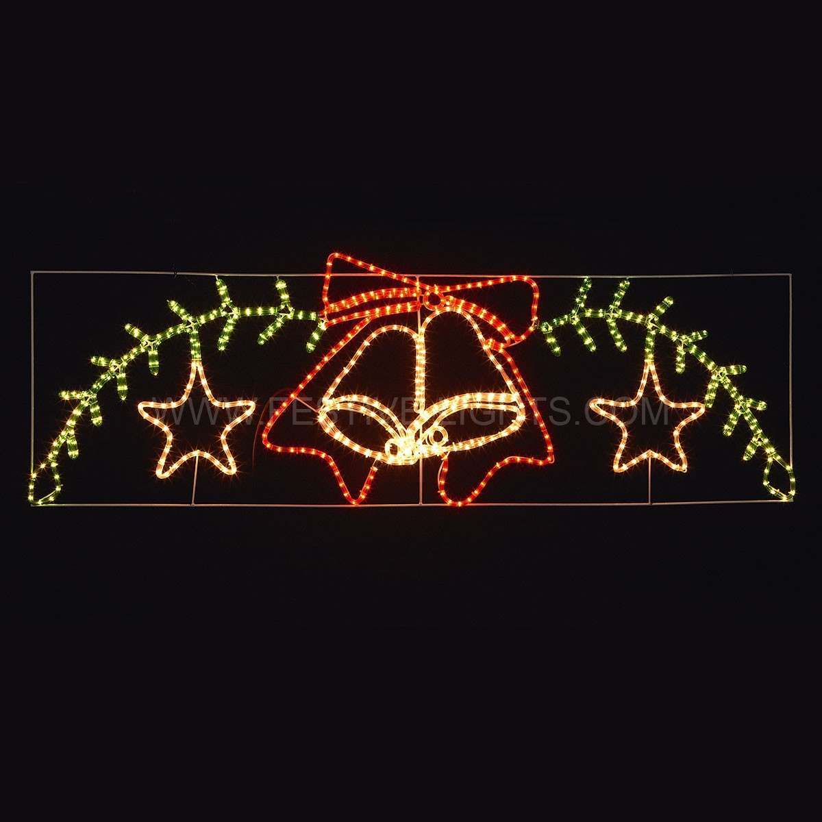 Click to view product details and reviews for 18m Double Bell And Star Rope Light Christmas Silhouette.