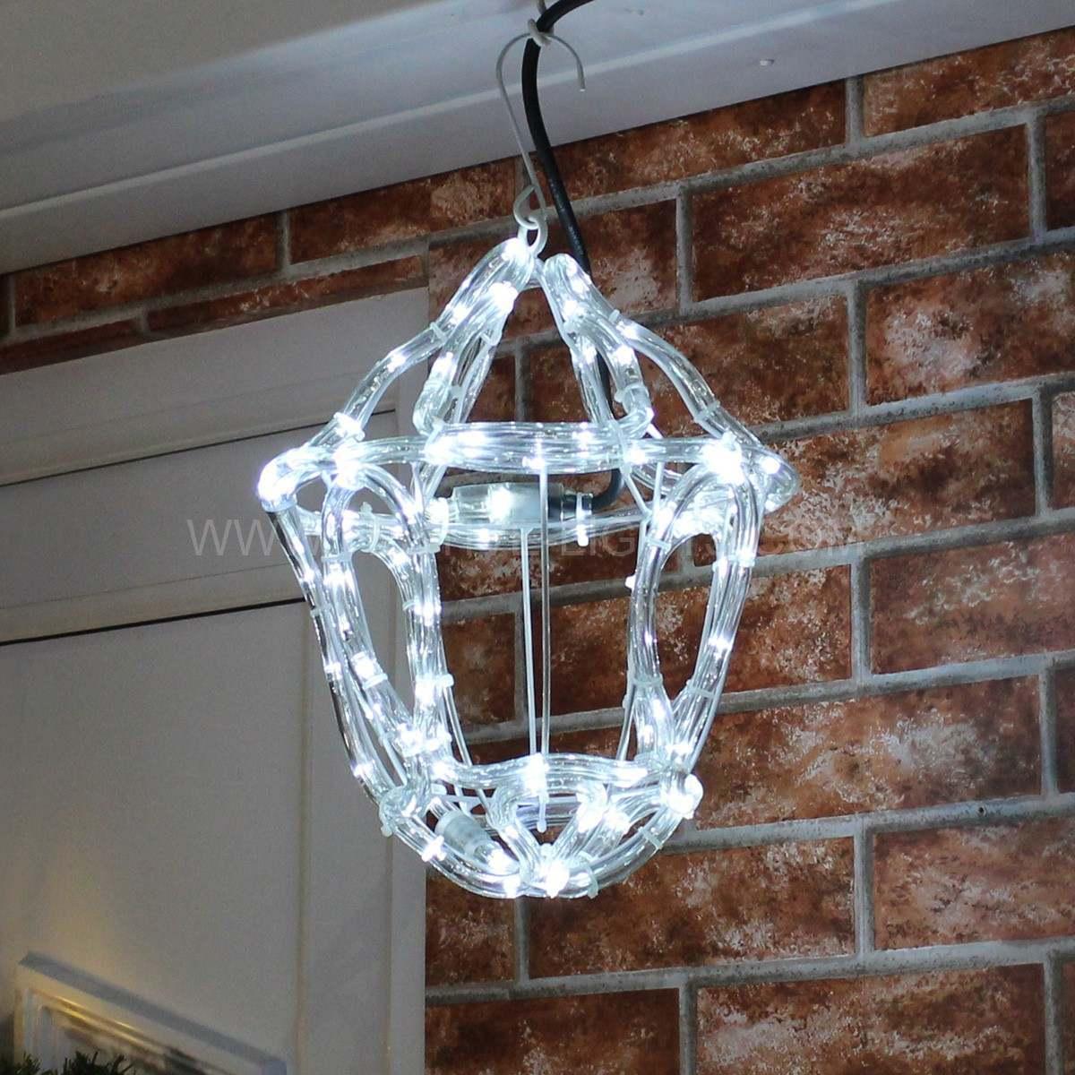 White rope light 3d Twinkling Lantern 26cm