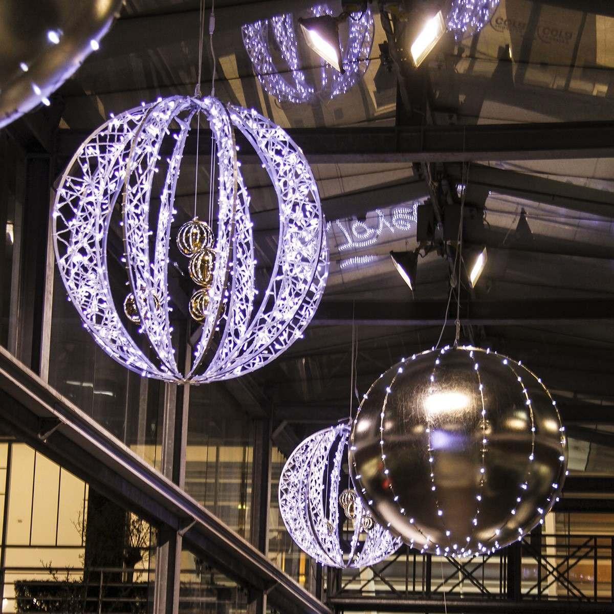 Illuminated White `Riga` Sphere, 1.35m