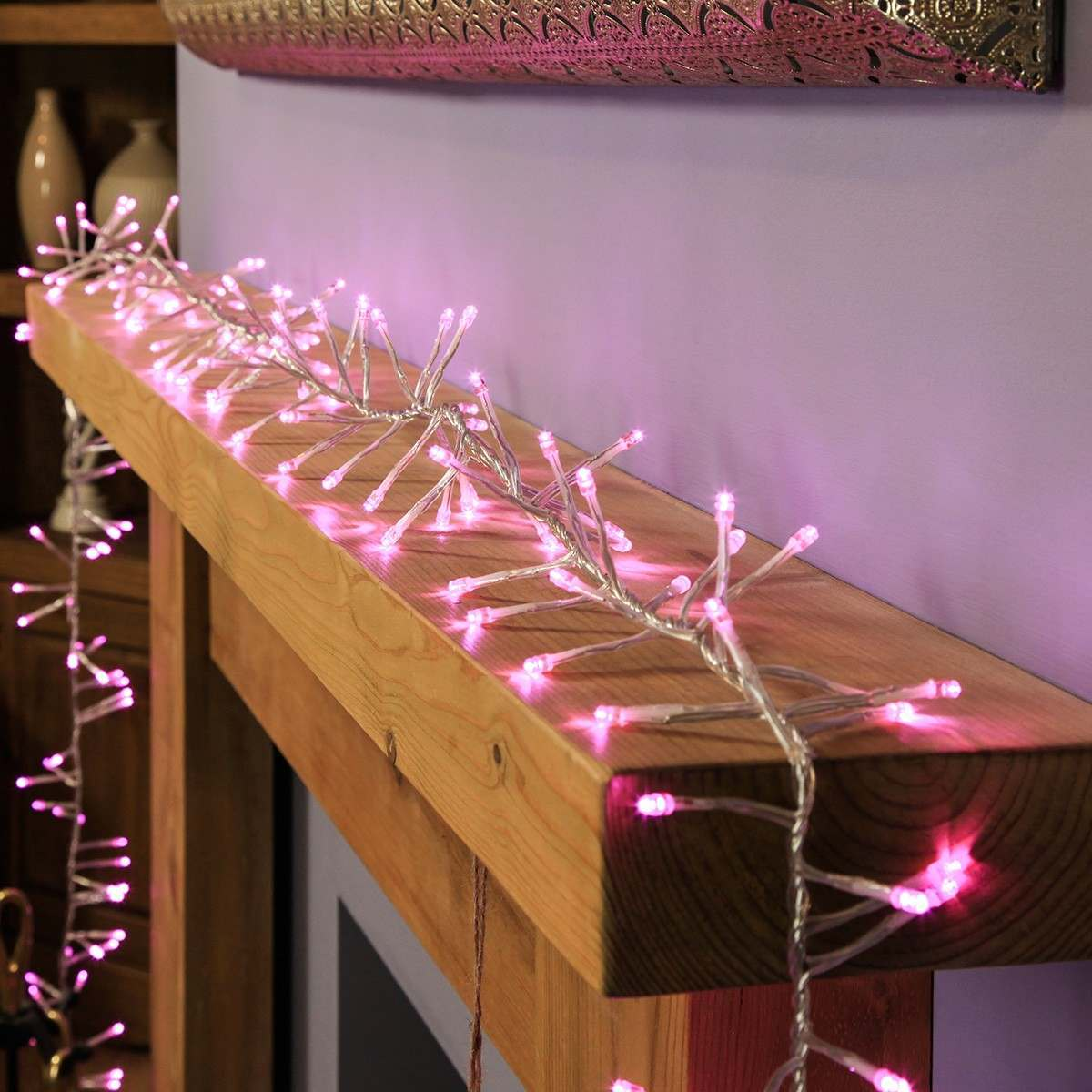 Click to view product details and reviews for 16m Pink Cluster Lights Connectable 1200 Leds Clear Cable.