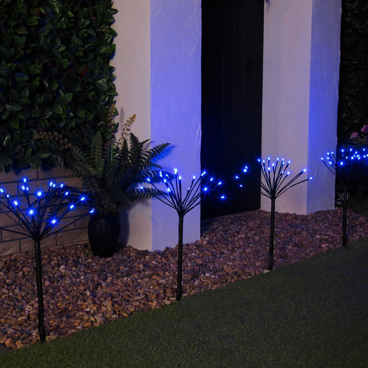 Outdoor Led Sparkler Garden Stake Lights Connectable