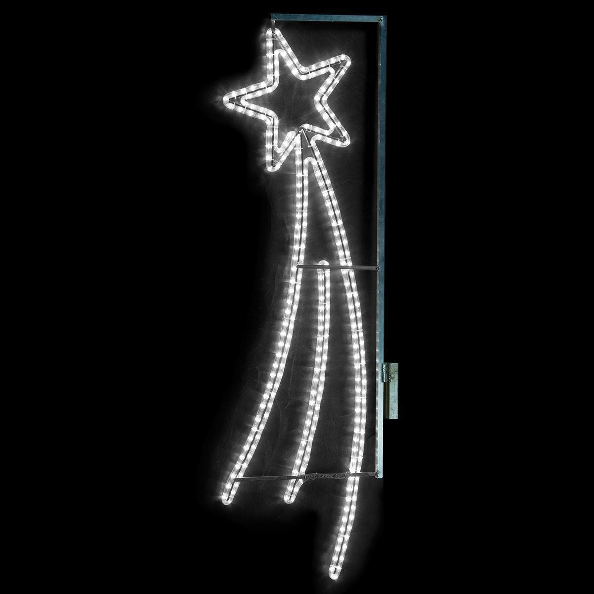Click to view product details and reviews for Outdoor Shooting Star Lamp Post Silhouette With White Rope Light 15m.
