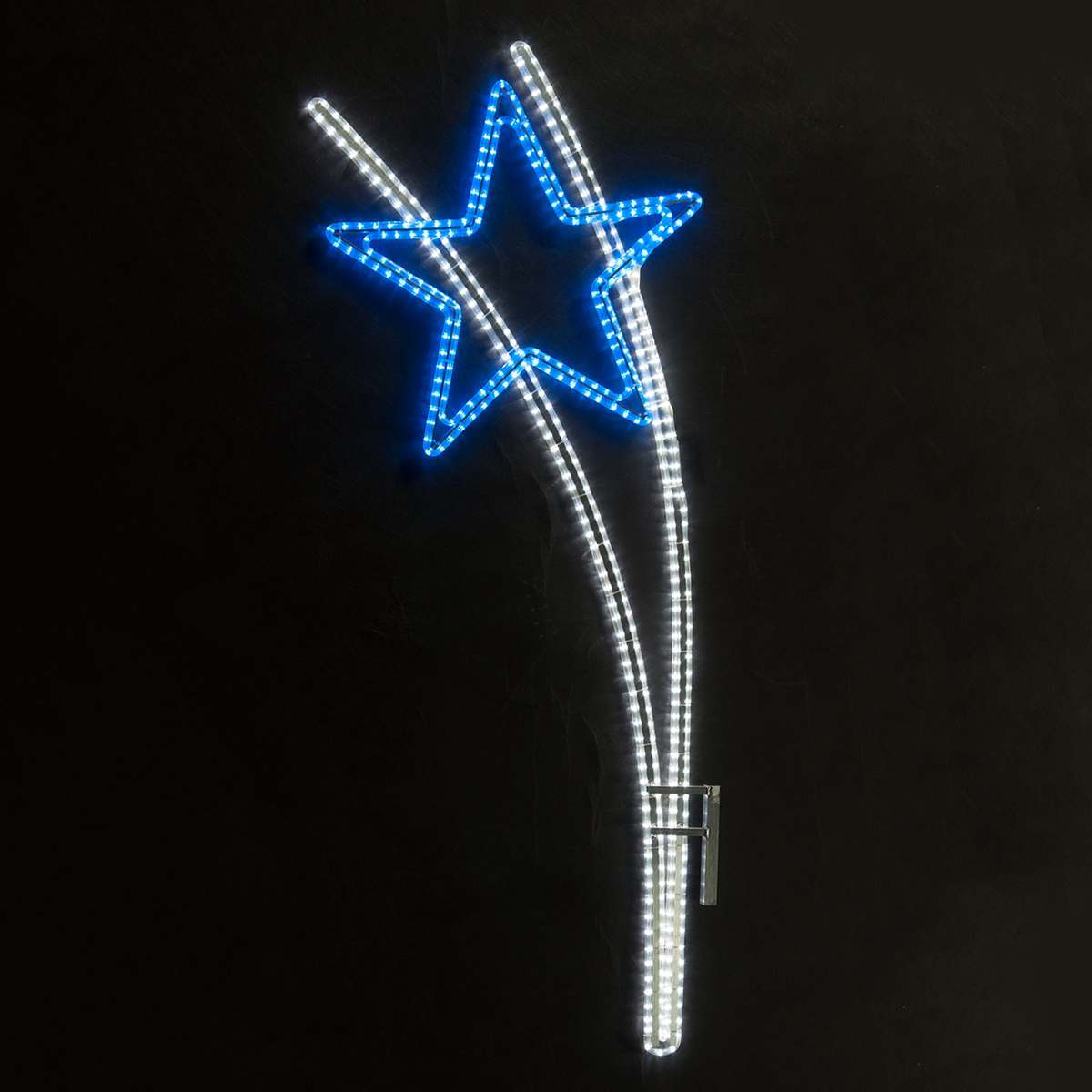 Shooting Star Silhouette With LED Rope Light, 1.7m