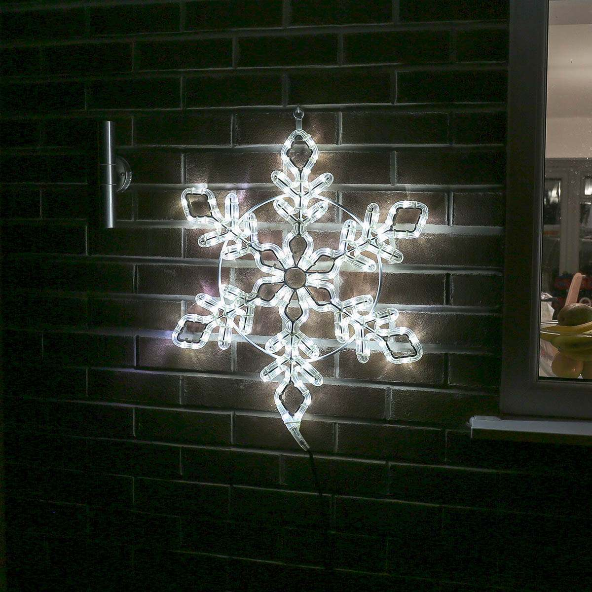 Snowflake lights outdoor cm connectable white