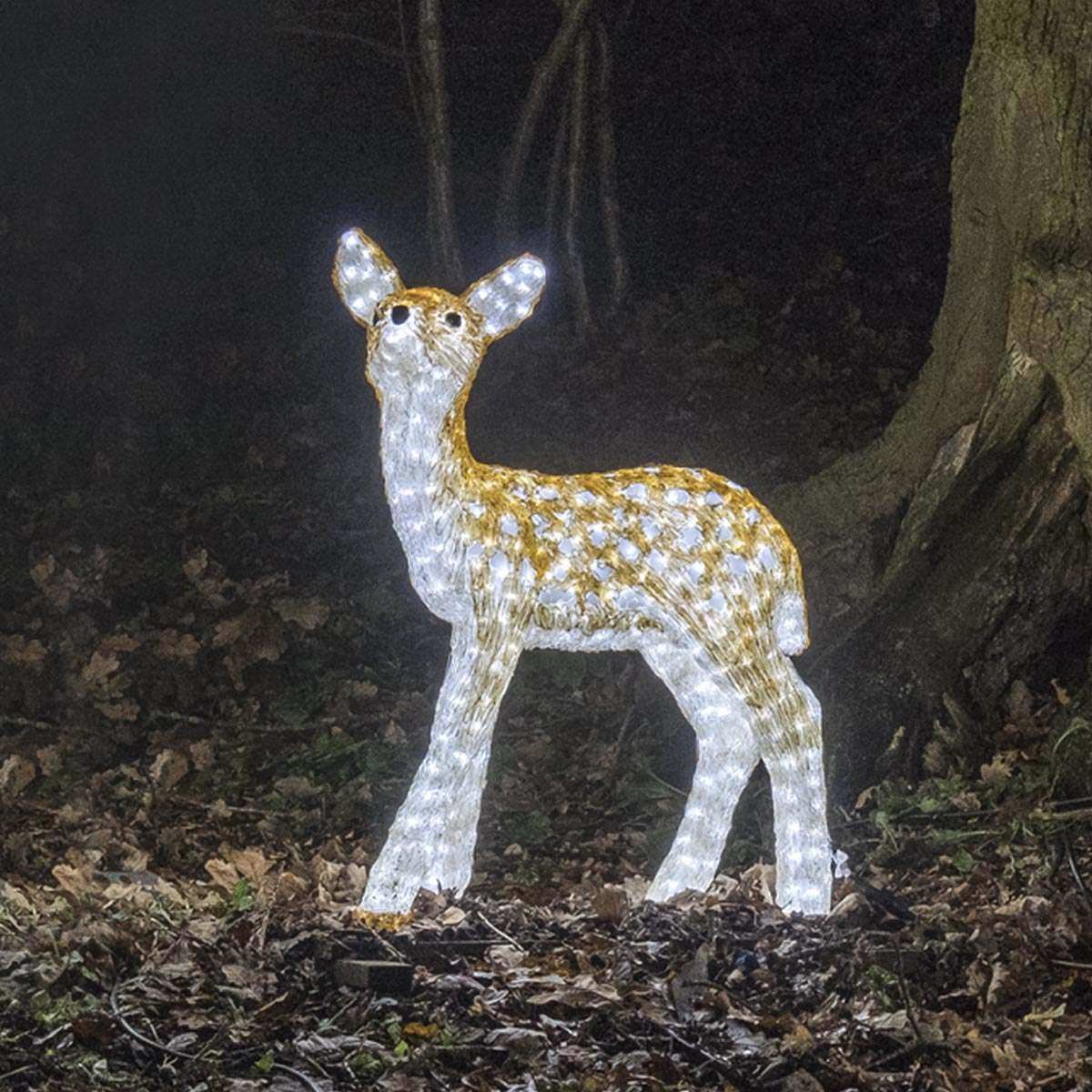 Click to view product details and reviews for 81m Large Brown Baby Reindeer Commercial Sculpture 560 White Leds.