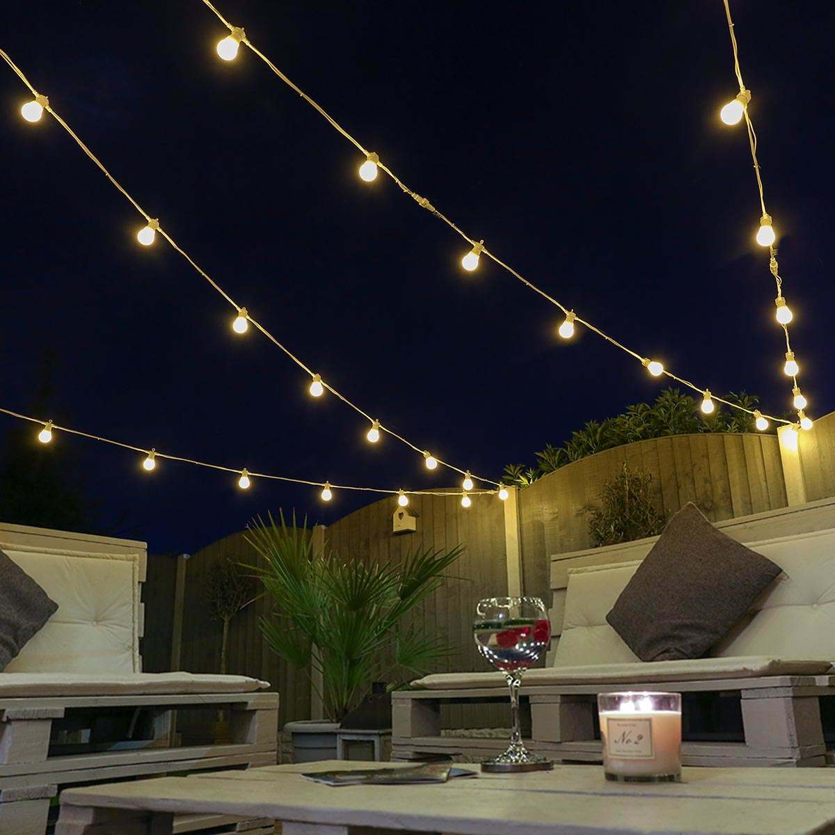 Festoon Lights Connectable Warm White Smd Leds Frosted
