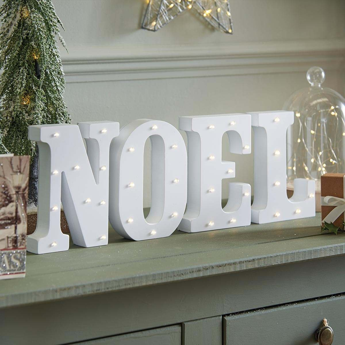 Noel Battery Light Up Circus Letters Warm White Leds