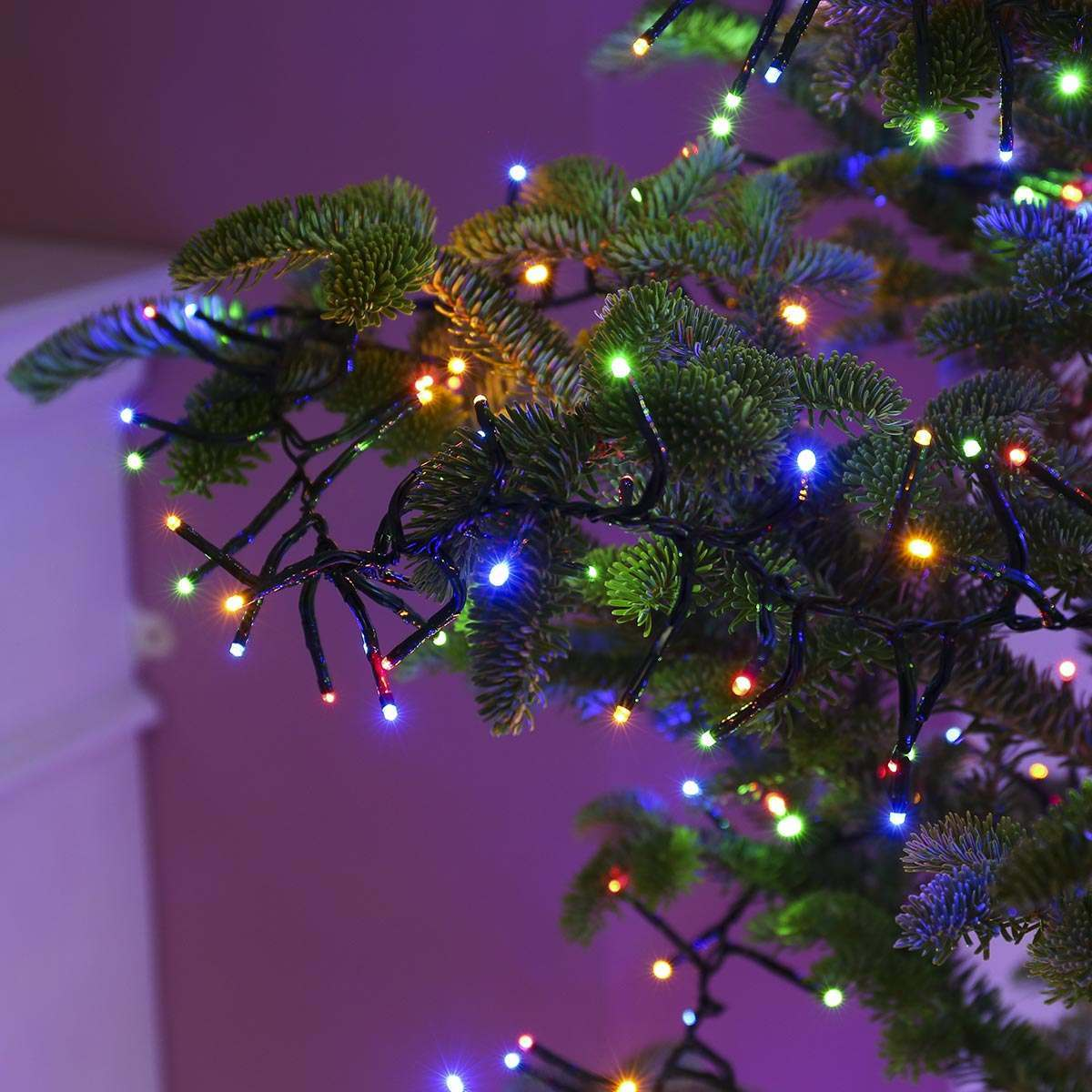 Purple Christmas Tree Lights.10m Christmas Tree Cluster Lights 800 Leds