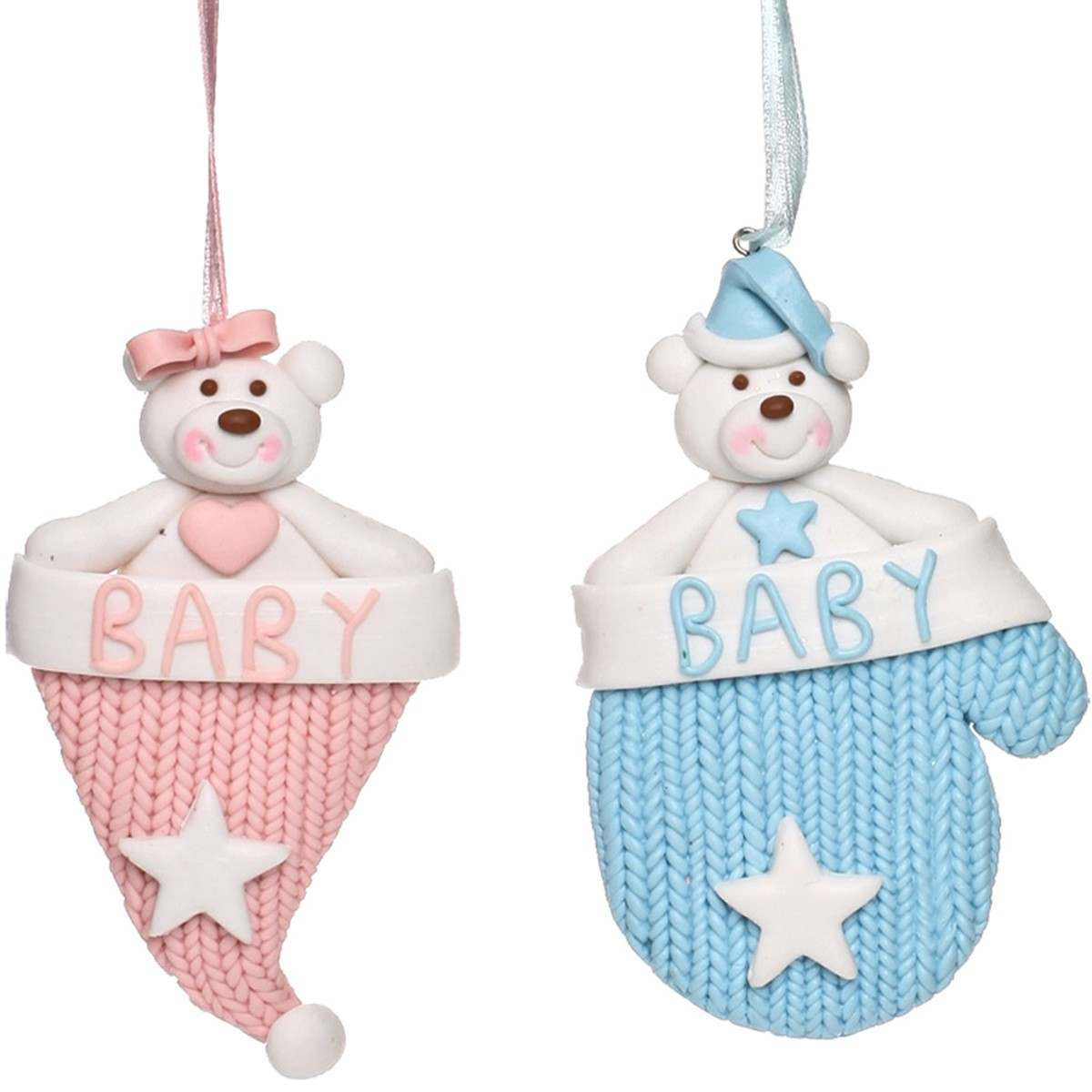 Click to view product details and reviews for Knitted Bears Hanging Decorations Pink.