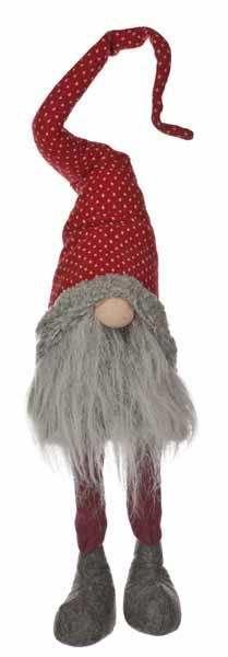 93cm Sitting Long Leg Gonk Red Hat