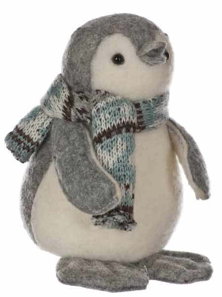 Click to view product details and reviews for 12cm Standing Penguin Grey.