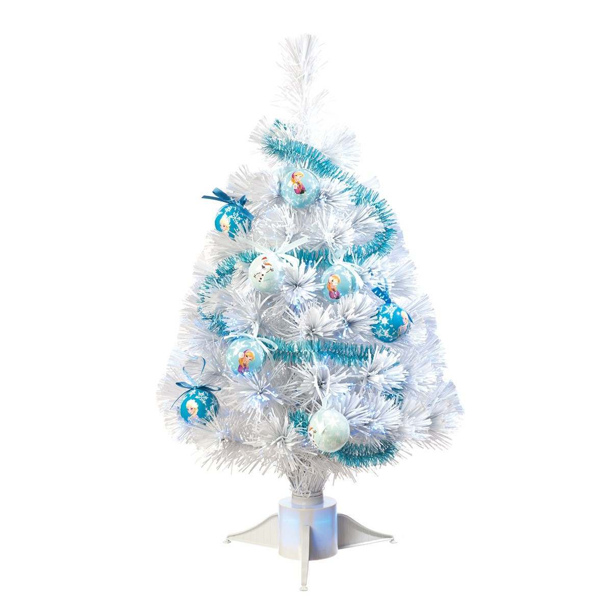 60cm Frozen White Fibre Optic Christmas Tree White LEDs