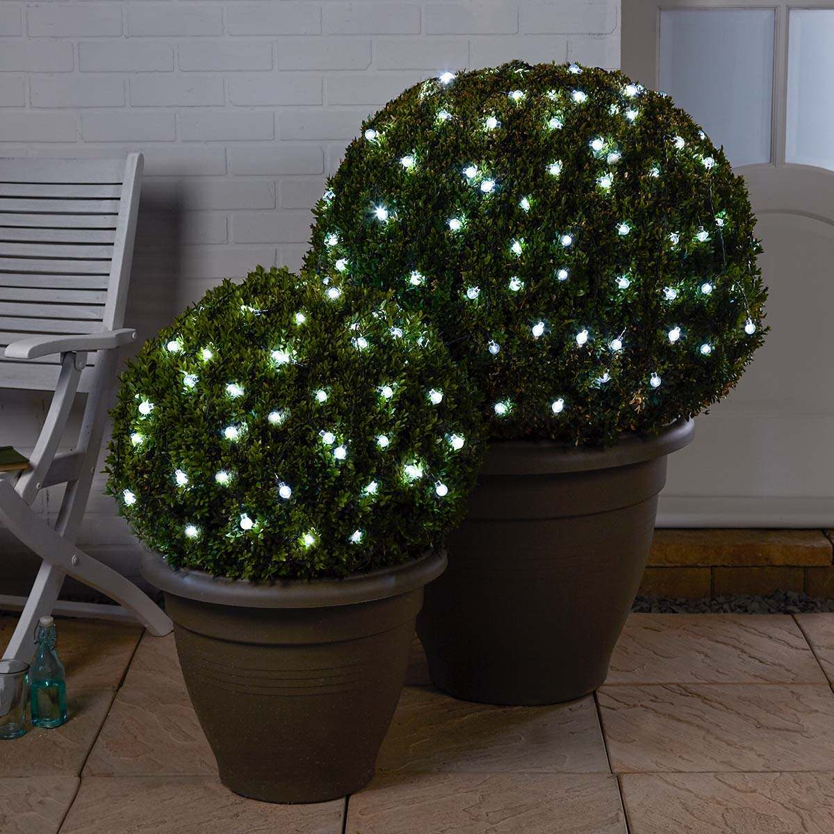 Click to view product details and reviews for 10m Solar Multi Function Clear Berry Christmas Fairy Lights White Leds.