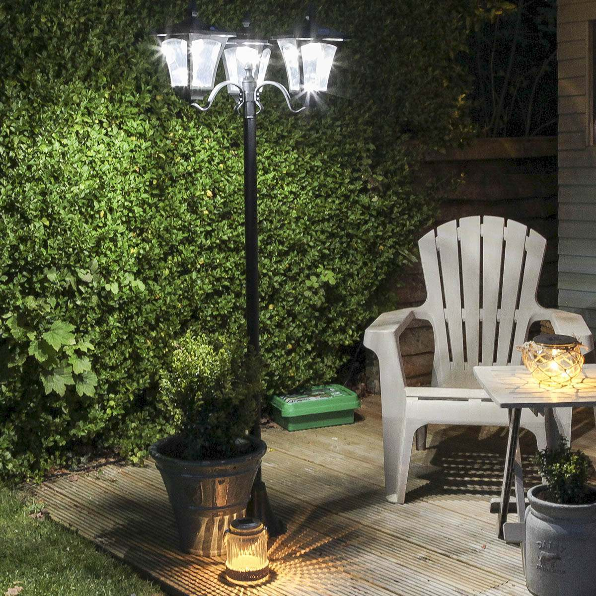 buy cheap solar garden post compare lighting prices for