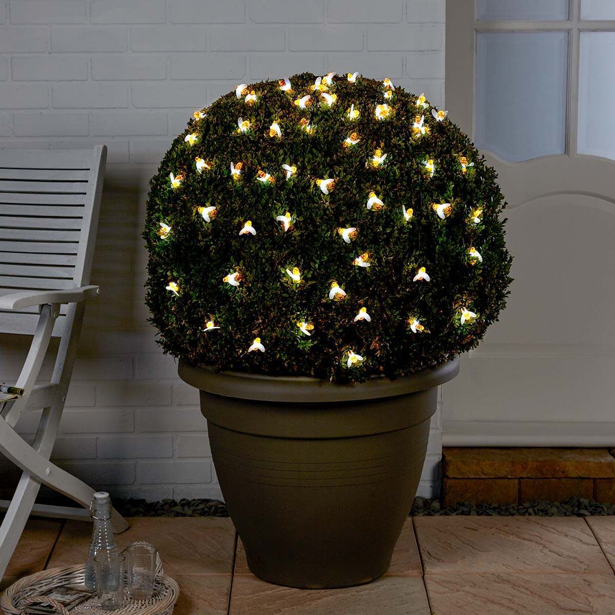 Click to view product details and reviews for 5m Solar Multi Function Bee Christmas Fairy Lights White Leds.