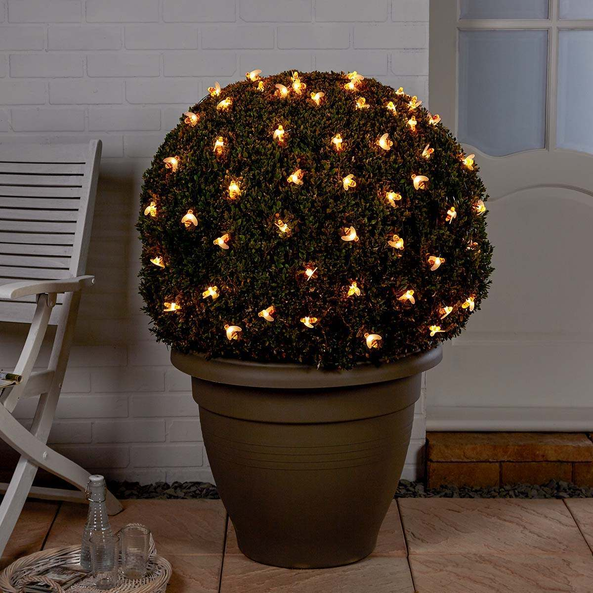Click to view product details and reviews for 5m Solar Multi Function Bee Christmas Fairy Lights Warm White Leds.