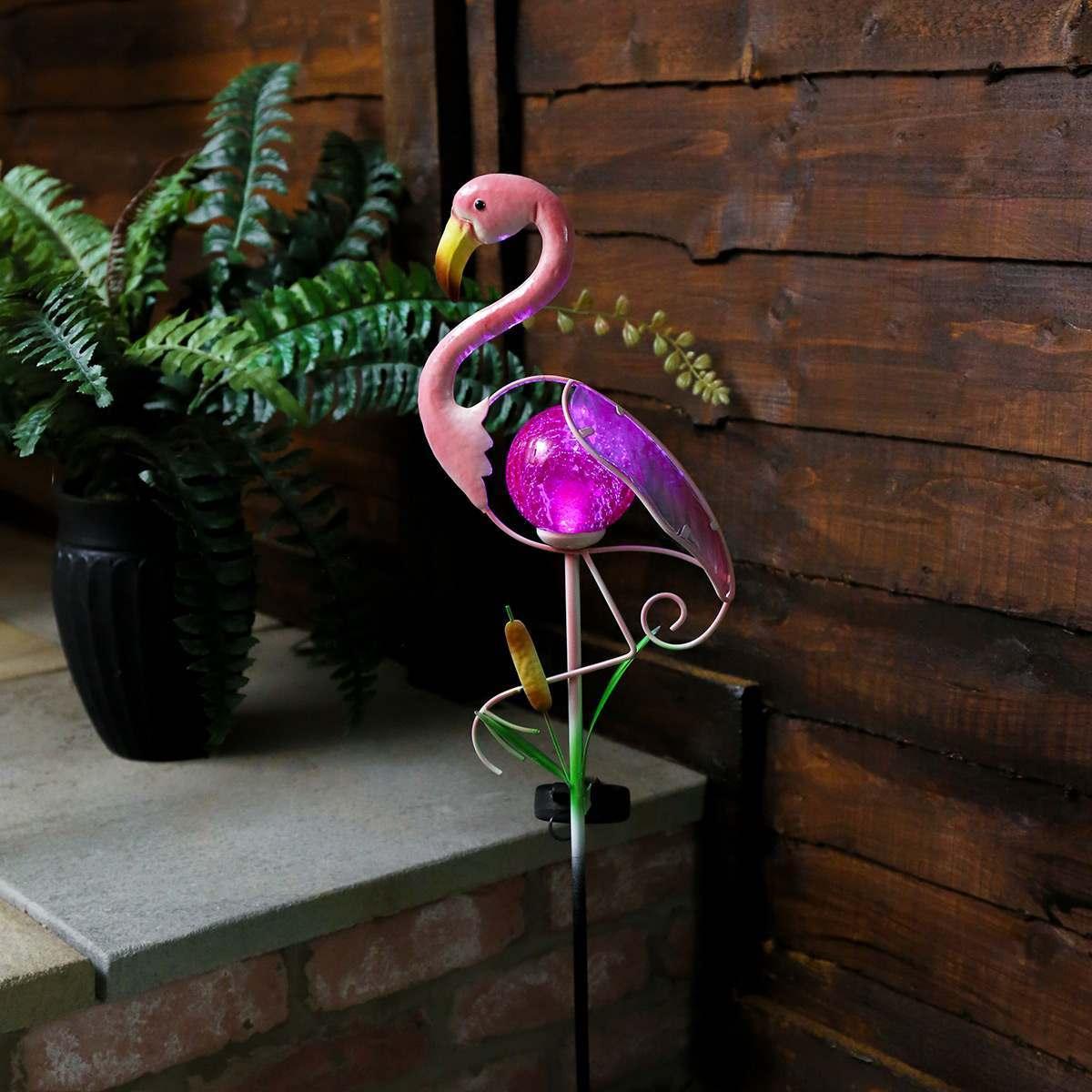 Solar Garden Flamingo Stake Light 81cm