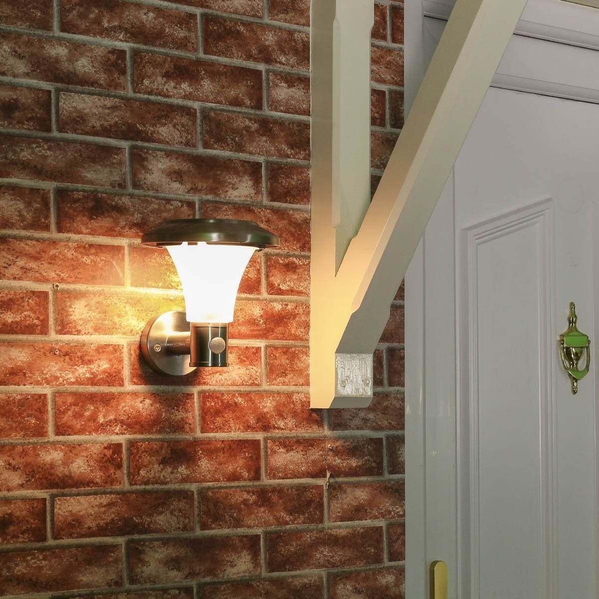 D180 super solar PIR wall lamp