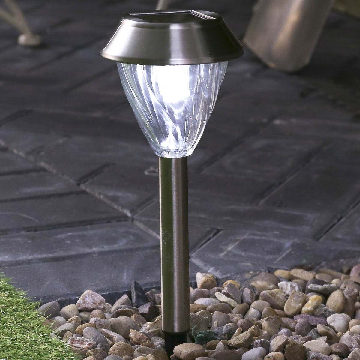 Click to view product details and reviews for 2pk D115 Super Solar Dual Power Solar Stake Light.