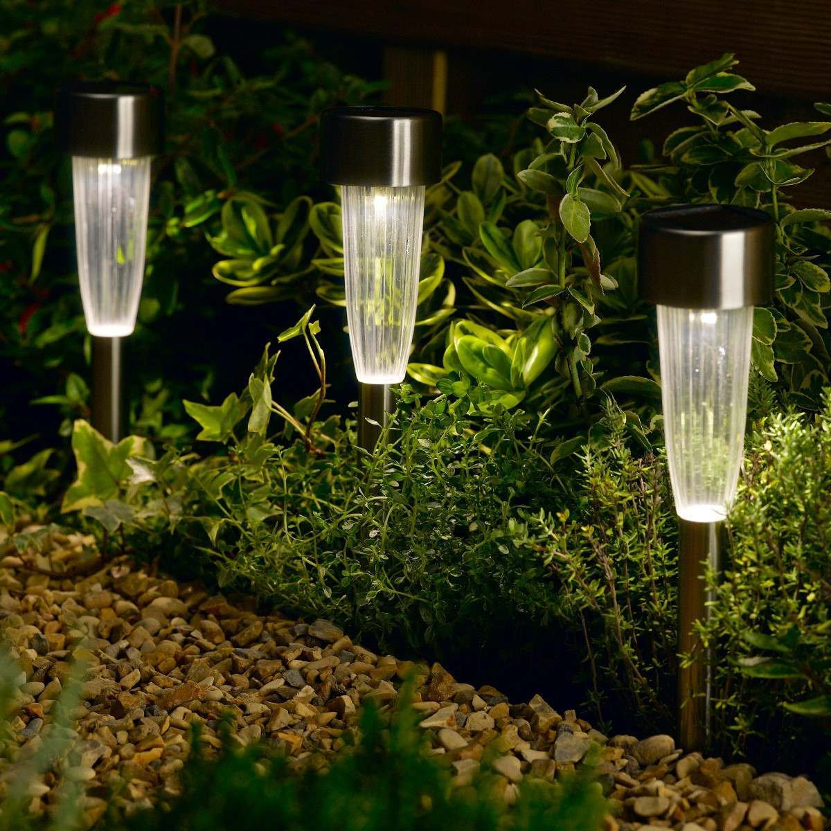 Click to view product details and reviews for 10 Fluted Solar Stake Lights.