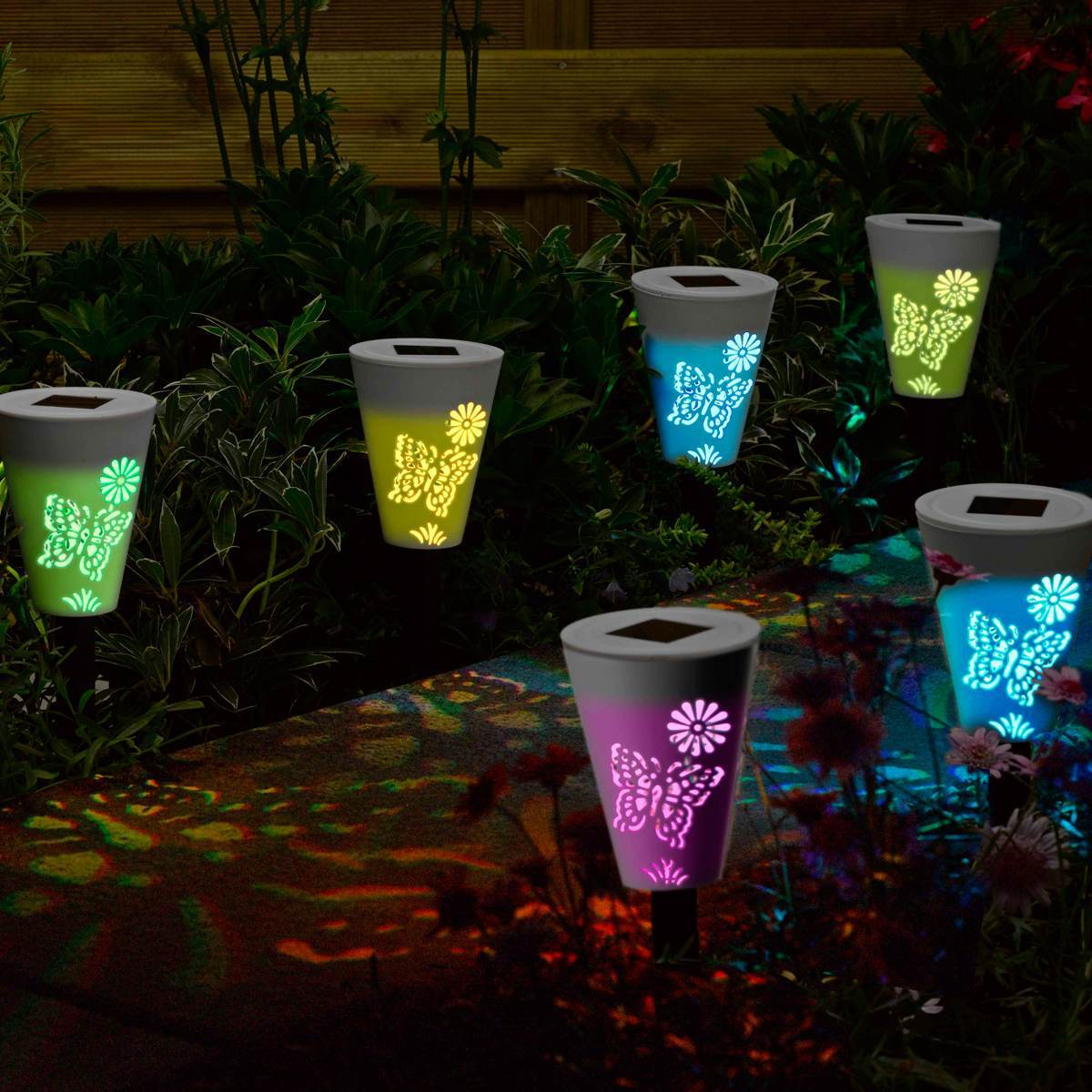 Click to view product details and reviews for Silhouette Solar Stake Lights Colour Changing Led 6 Pack.