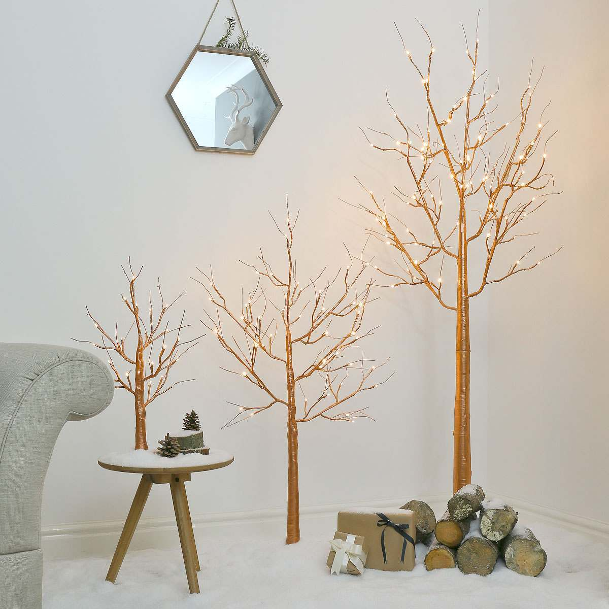 Copper Twig Tree Warm White Leds