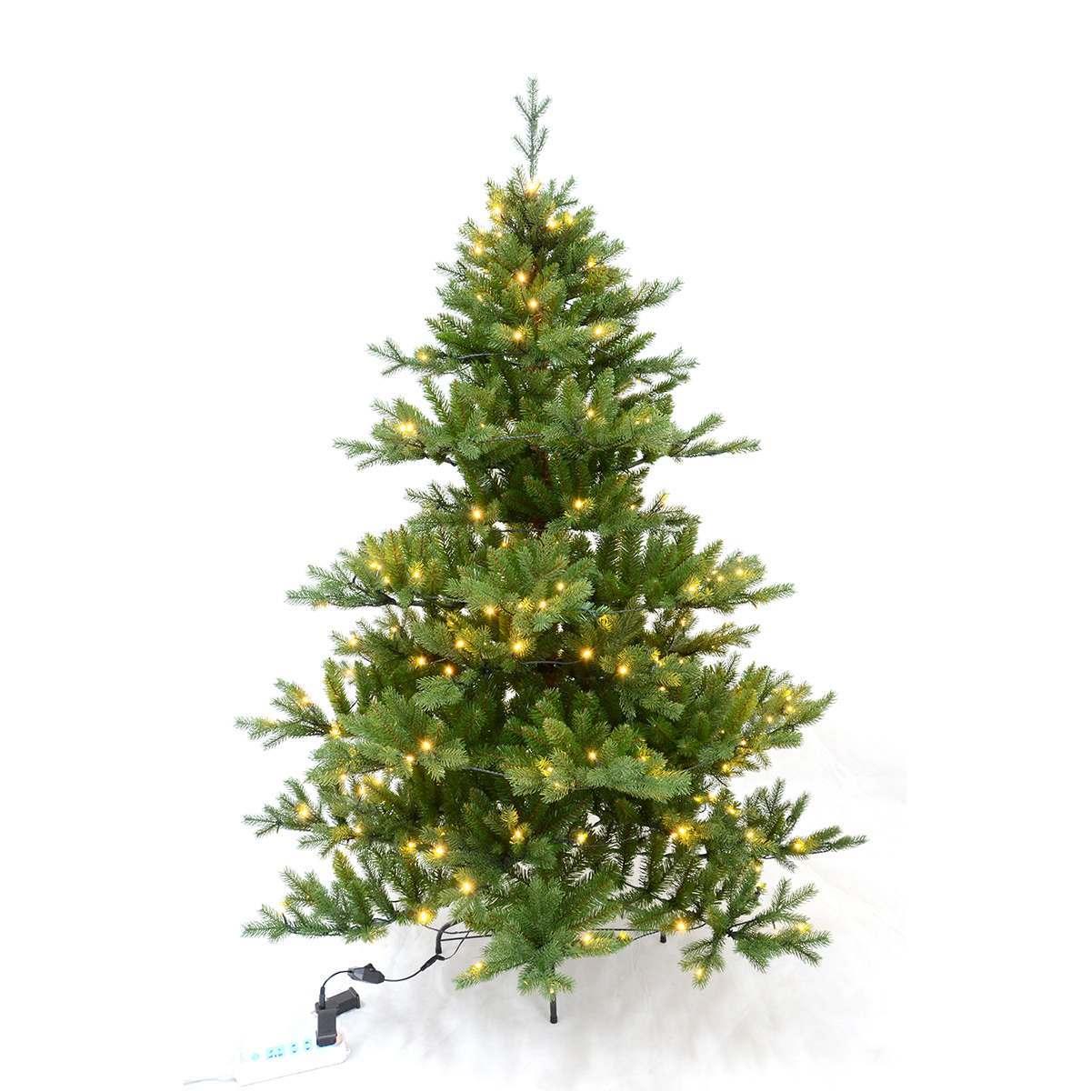 9ft Green Pre Lit Richmond Fir Artificial PE Christmas Tree