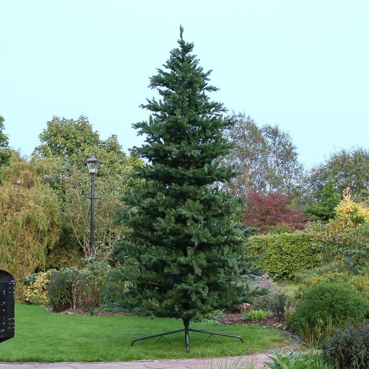 Cheap Christmas Trees Uk: 12ft Outdoor Green Richmond Fir Artificial Real-Feel PE