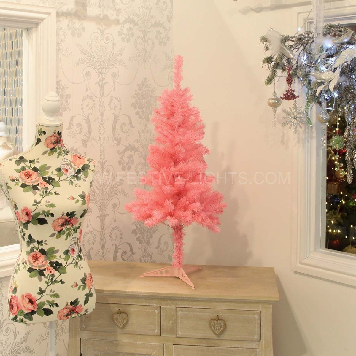 3ft Pink Artificial Christmas Tree