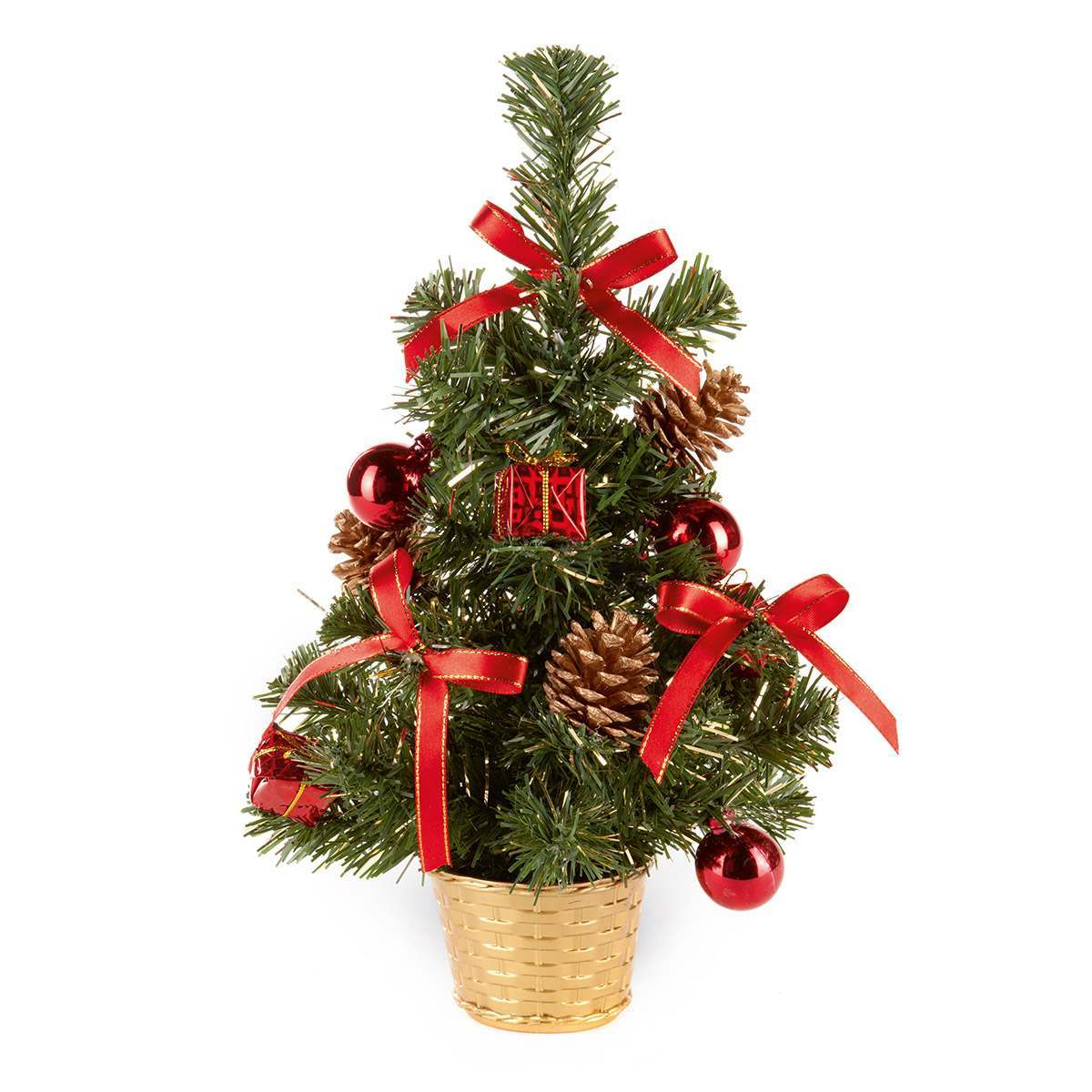 Click to view product details and reviews for 30cm Table Top Christmas Tree With Red Decorations.