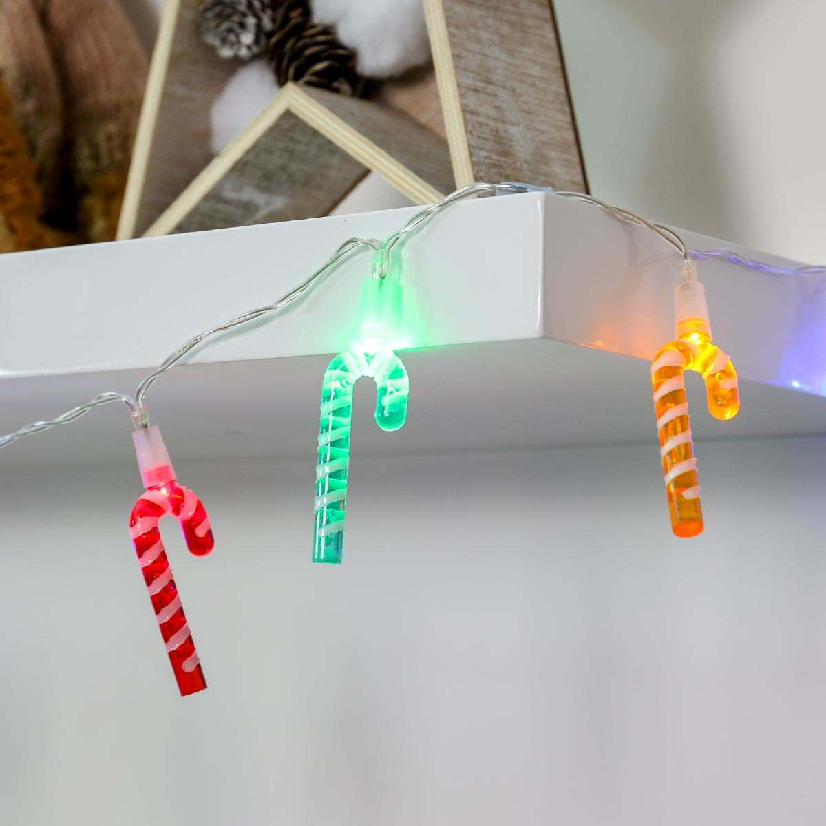 2m Battery Multi Colour Candy Cane Fairy Lights Led Christmas String Light Wiring Diagram In Addition