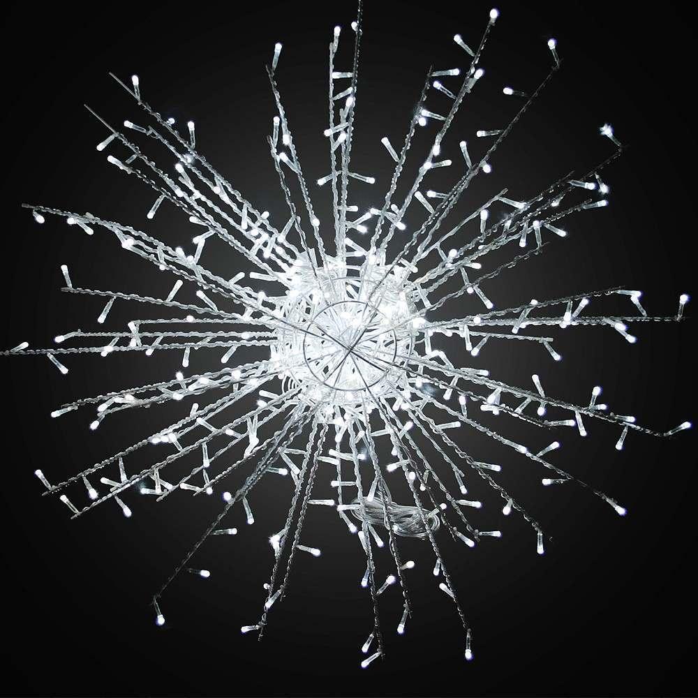 Illuminated White `Calgary` Light Spark, 80cm