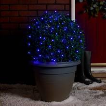 Blue outdoor Christmas fairy lights
