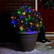 Multi Coloured outdoor Christmas fairy lights