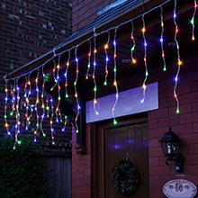 Multi-Coloured Christmas Icicle lights
