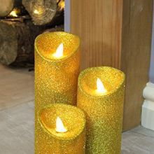 Gold Christmas Candles