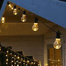 Christmas festoon lights