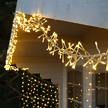 Outdoor Christmas cluster lights