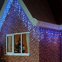 Blue Icicle Lights Outdoor Christmas icicle lights buy stunning led icicle lights from festive blue white christmas icicle lights workwithnaturefo
