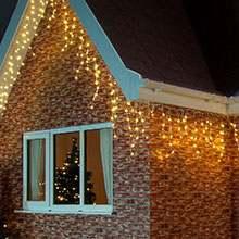 Warm White Christmas Icicle lights